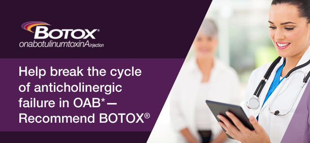 Raise the standard of OAB* care with BOTOX(R)