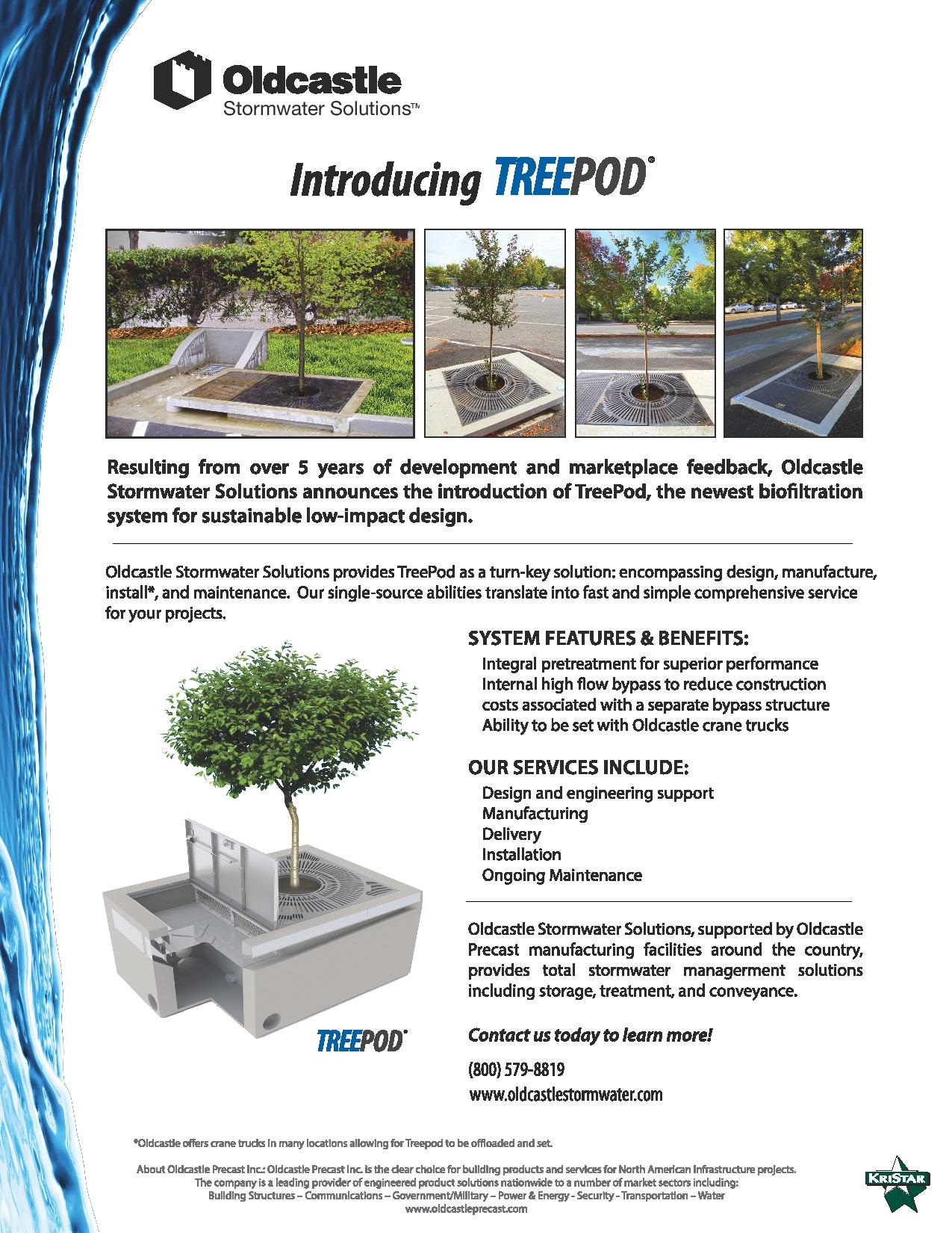 Oldcastle Stormwater Solutions Introduces the TREEPOD