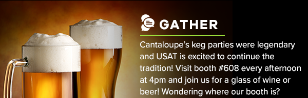 Keg Party - Visit Booth #608 March 21st from 3PM to 5PM for beer on us!