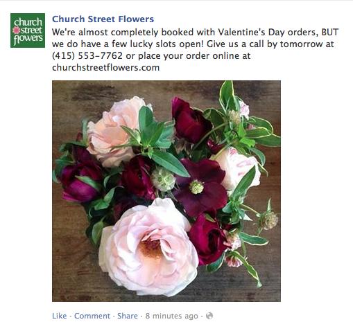 Church street flowers san francisco calif for Log cabin florist bakersfield